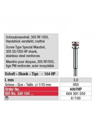Mandrin pour disques 305 RF/050 4007HP