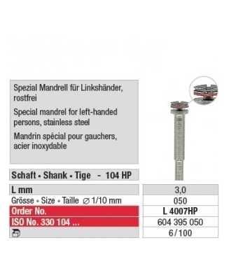 Mandrin spécial pour gauchers