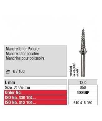 MANDRINS pour polissoirs 4004HP