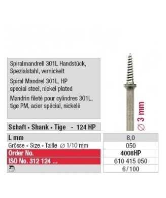 Mandrin fileté pour cylindres 301L 4008HP