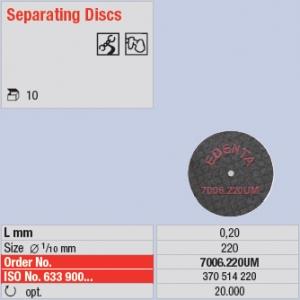 7006-220UM 10x disque à séparer - fibré renforcé