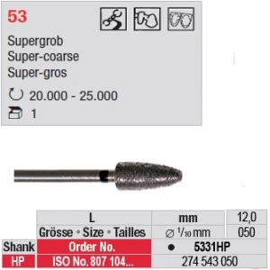 5331HP Fraise diamanté dans la masse (grain super gros)
