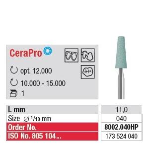 Faise céramique CeraPro Cône bout plat 8002.040HP