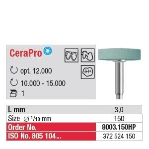 Fraise céramique CeraPro Roue 8003.150HP